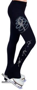 Skating Pants with Rhinestones R256LB - Light Blue
