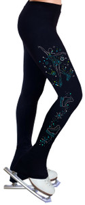 Skating Pants with Spangles S101B