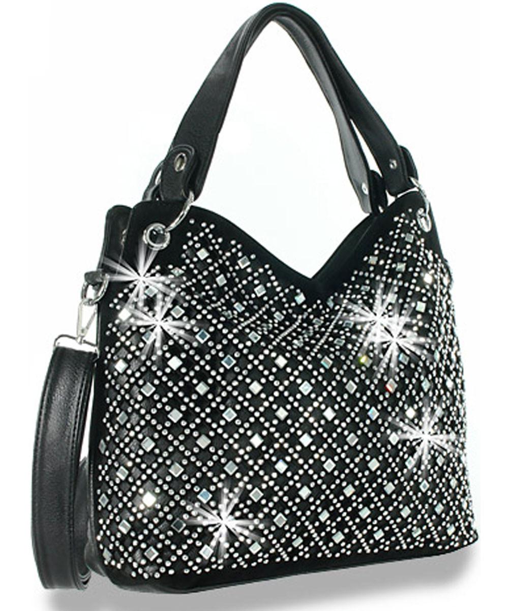 Mirror Rhinestone Bling Purse Sparkle Handbag B3169181 - ZZFab