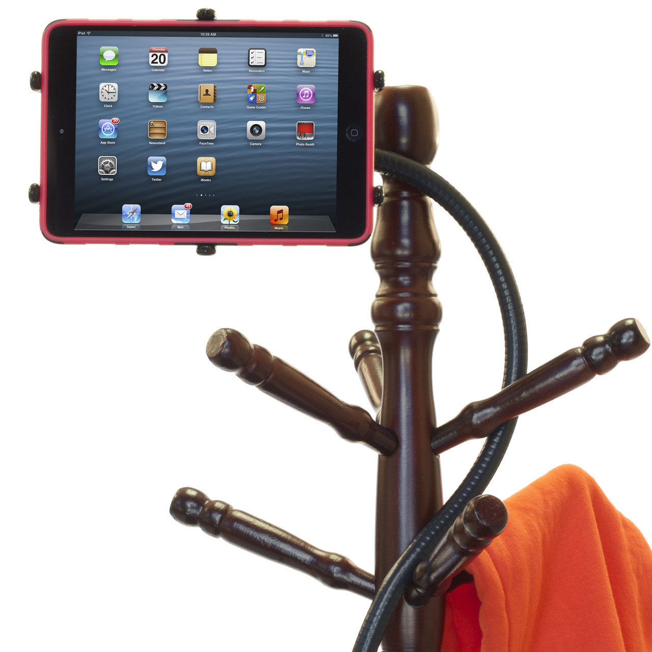 iPad mini Flexible Stand on Coat Rack