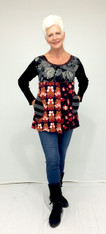 Feeling Groovy Tunic (Black & Red)
