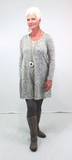 Twiggy Dress (White & Grey)