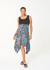 Soleil Dress (Black & Print)