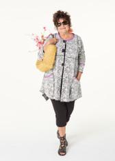 Cosette Coat (B&W Floral)