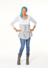 Feeling Groovy Tunic (Grey Mix)