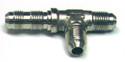 Tee Tube Flared, Aluminum, Tube O.D. 1/4, Thread size 7/16-20 - AN804-4D