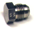 Plug Flared Tube Fitting, Aluminum, O.D. 1/4, Thread Size 7/16-20 - AN806-4D
