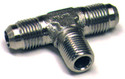 Tee, Flared Tube and Pipe Thread on side, Aluminum, O.D. 1/2, Thread Size 3/8 - AN825-8D