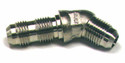 Elbow, Flared Tube, Bulkhead and Universal 45 Degree, Aluminum, O.D. 3/8, Thread Size 9/16-18 - AN837-6D