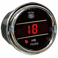 Air Filter indicator gauge with sensor with red LED