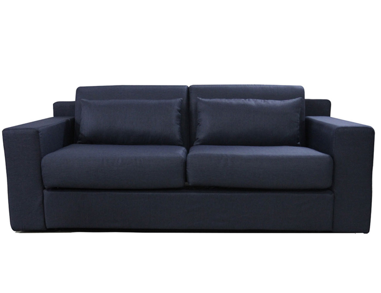 Lunar Pull Out Sofa Bed Dark Blue Online Furniture Bedding Store