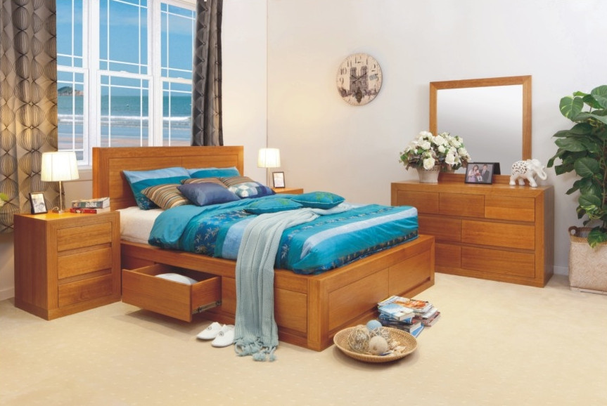 Claremont King 5 Piece Dresser Bedroom Suite With 4 Under Bed Drawers Choic Ebay