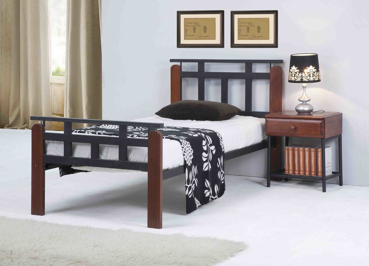 black oak big and beautiful singles Single, double and king-size wooden beds available  hard wood and oak effect finishes,  it was a beautiful bed made of leather and very comfortable,.