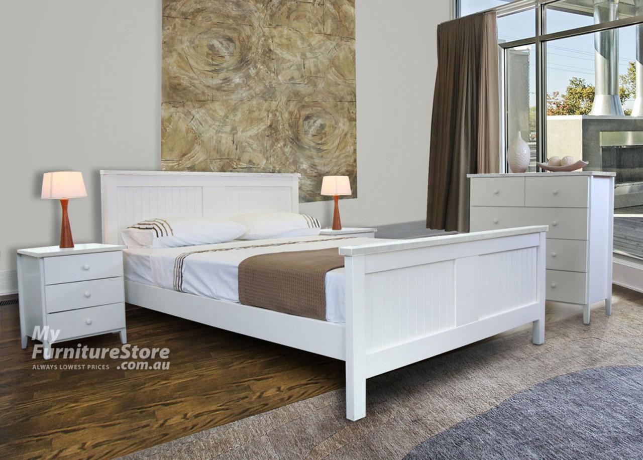 Palacio double or queen 3 piece bedside bedroom suite for Black bedroom suite
