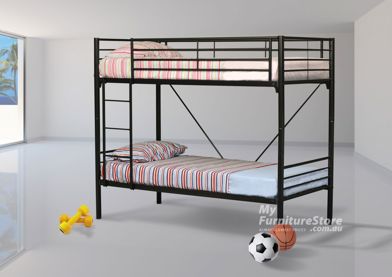 Commercial Bunk Beds King Single Commercial Bunk Bed Black Australia S Best Furniture Bedroom