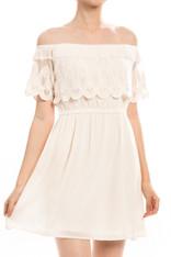 ivory off the shoulder dress