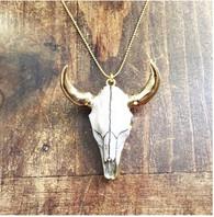 Steerhead on Gold Chain