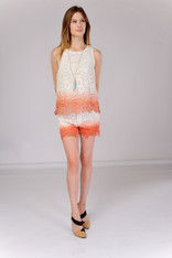 White Crochet Ombre Top