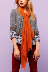 burnt orange scarf