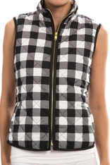 Black White Plaid Vest