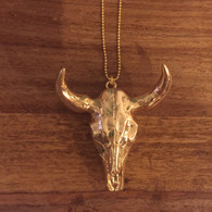 Gold Longhorn Necklace