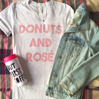 donuts and rosé tee