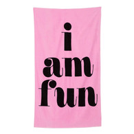 i am fun beach towel