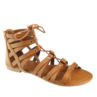 Tan Lace Up Sandals