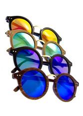 Flash Lens Round Retro Sunglasses