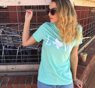 mint texas love tee