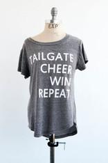 tailgate cheer win repeat tee