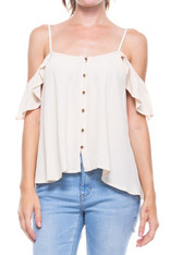 Ivory Open Shoulder Top