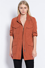 burnt orange jacket