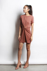 Rust Knotted Front Dress