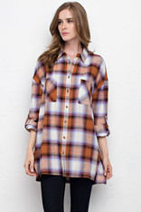 Checkered Shirt with Front Pockets