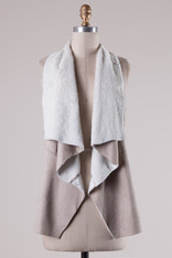 Taupe Suede Vest
