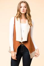 Cognac Knit Vest
