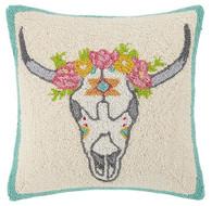 Floral Skull Pillow