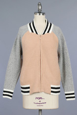 Pink Bomber Sweater