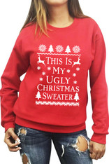 This is My Ugly Christmas Sweater Red