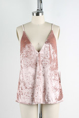 Light Pink Velvet Top