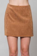 Camel Corduroy Skirt