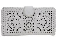 White Laser Cut Wallet