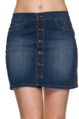 Denim Skirt Button Down