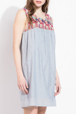 Sleeveless Cotton Dress Embroidered Top