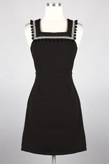 Little Black Dress Pom Pom Trim