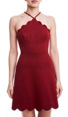Red Scallop Dress