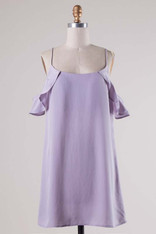 Lavender Open Shoulder Dress