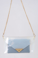 Clear Purse with Gold Chain Strap