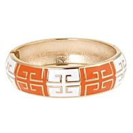 Burnt Orange & White Bracelet